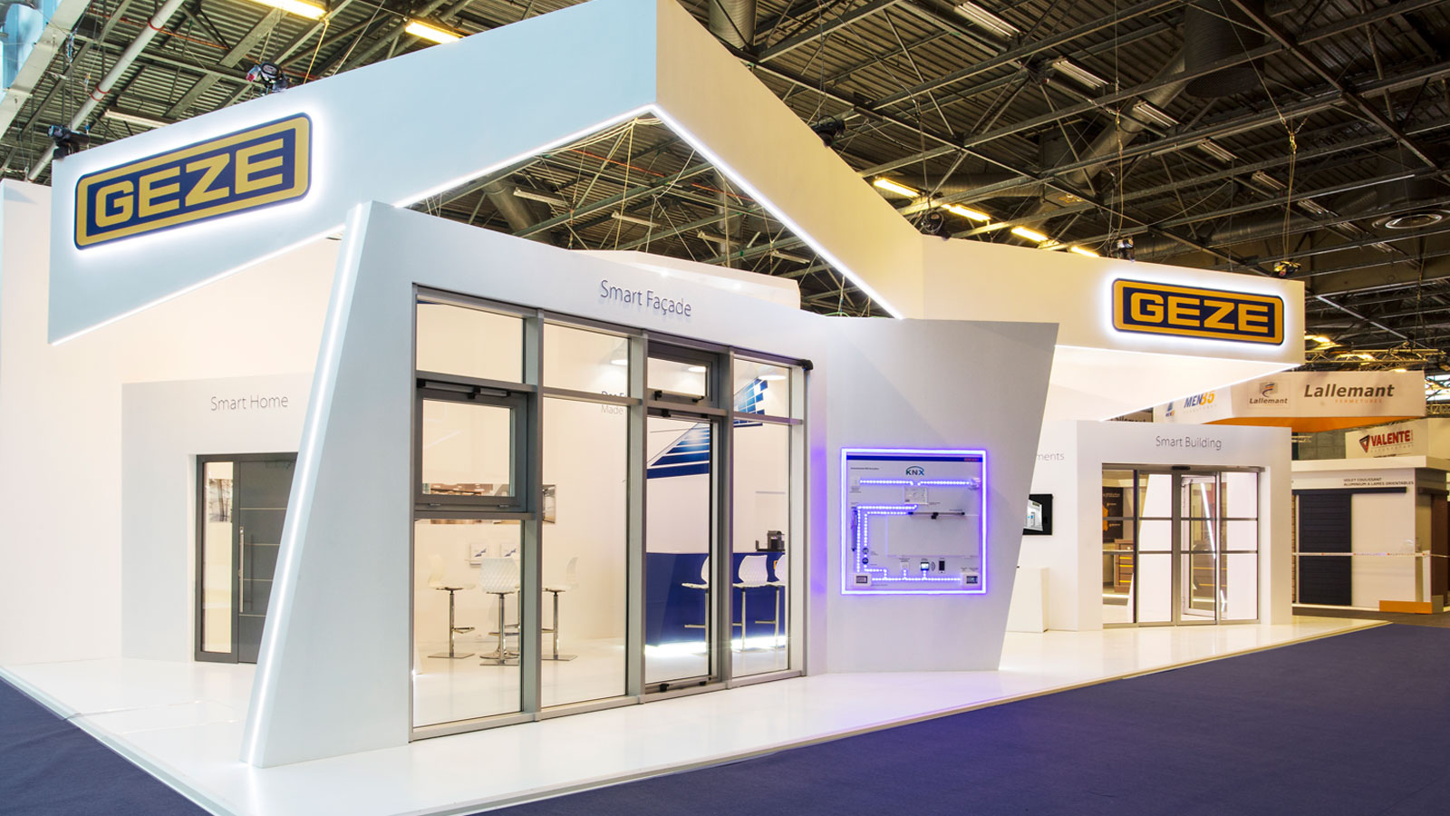 Stand-Design-Geze-Batimat-LED edge