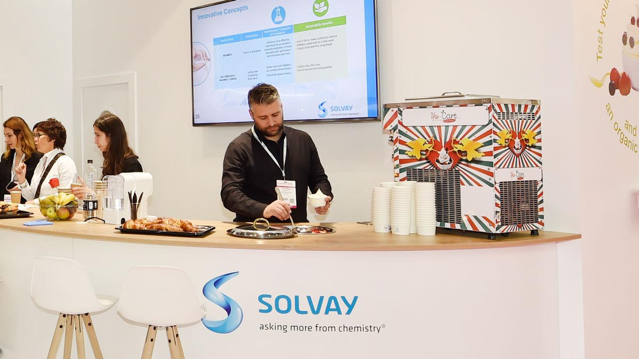 Stand-Design-Solvay-Novecare-InCosmetics-Origami-Frozen-Yogourt