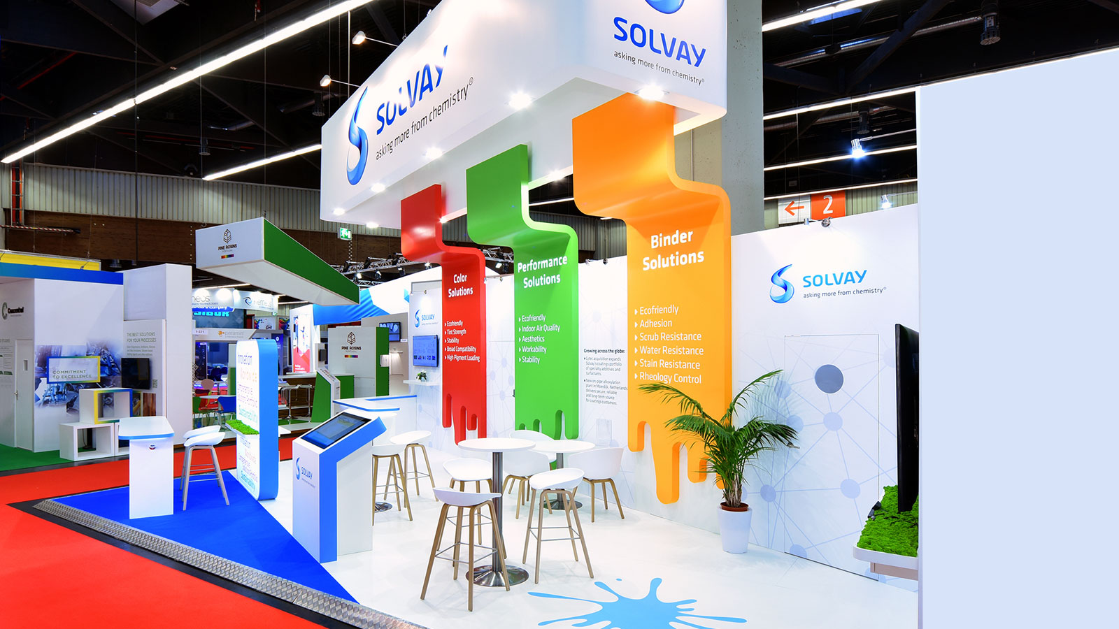 Stand-design-Solvay-Eurocoating-Painting-style