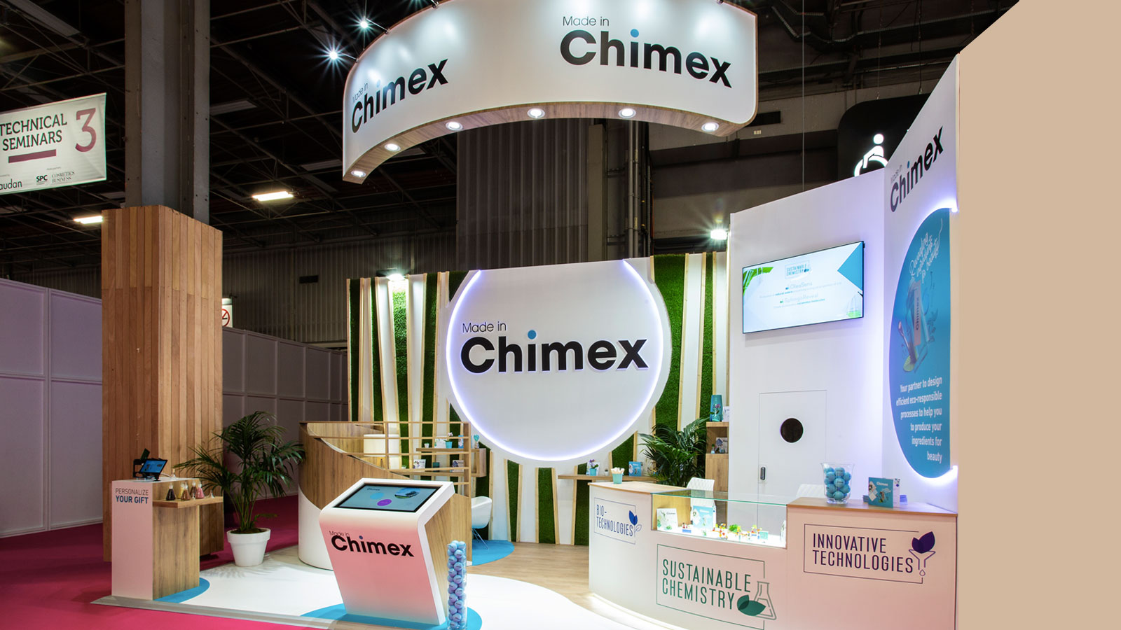 Stand-Design-Chimex-Incosmetics-Green